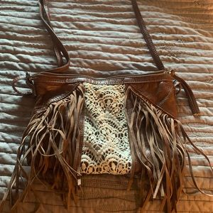 Handbags - Country style small purse with fringe